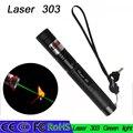 Луч Лазерной Указки сжигание Лазер Pen 532nm 5 МВт 303 Зеленый Горящая Спичка + 2key