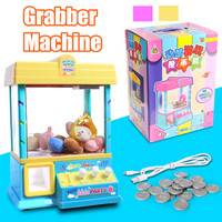 Grabber Doll Machine Carnival Style Vending Arcade Claw Candy Doll Prize Game Kid toy birthday Gift Coin Operated Games