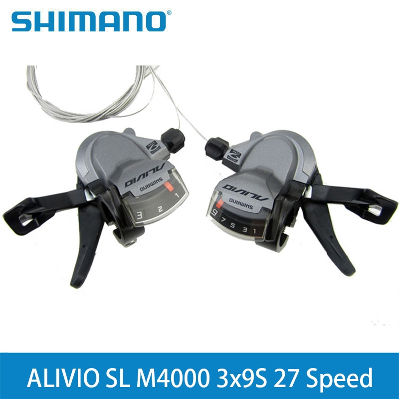 SHIMANO ALIVIO SL M4000 3x9S 27 Speed SL-M4000 Shifter Lever Trigger Left & Right With Inner Cables Hot sport цена