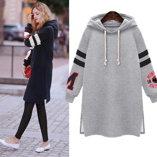 Hot 2018 Winter Autumn Fashion Womens Long Sleeve Hooded Jacket Loose Warm Hoodies Sweatshirt Plus Size Femininas l-5xl
