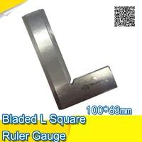 Bordo quadrato Fabbrica-outlet Tono Argento In Acciaio Inox 100x63mm Bladed L Righello Quadrato Gauge
