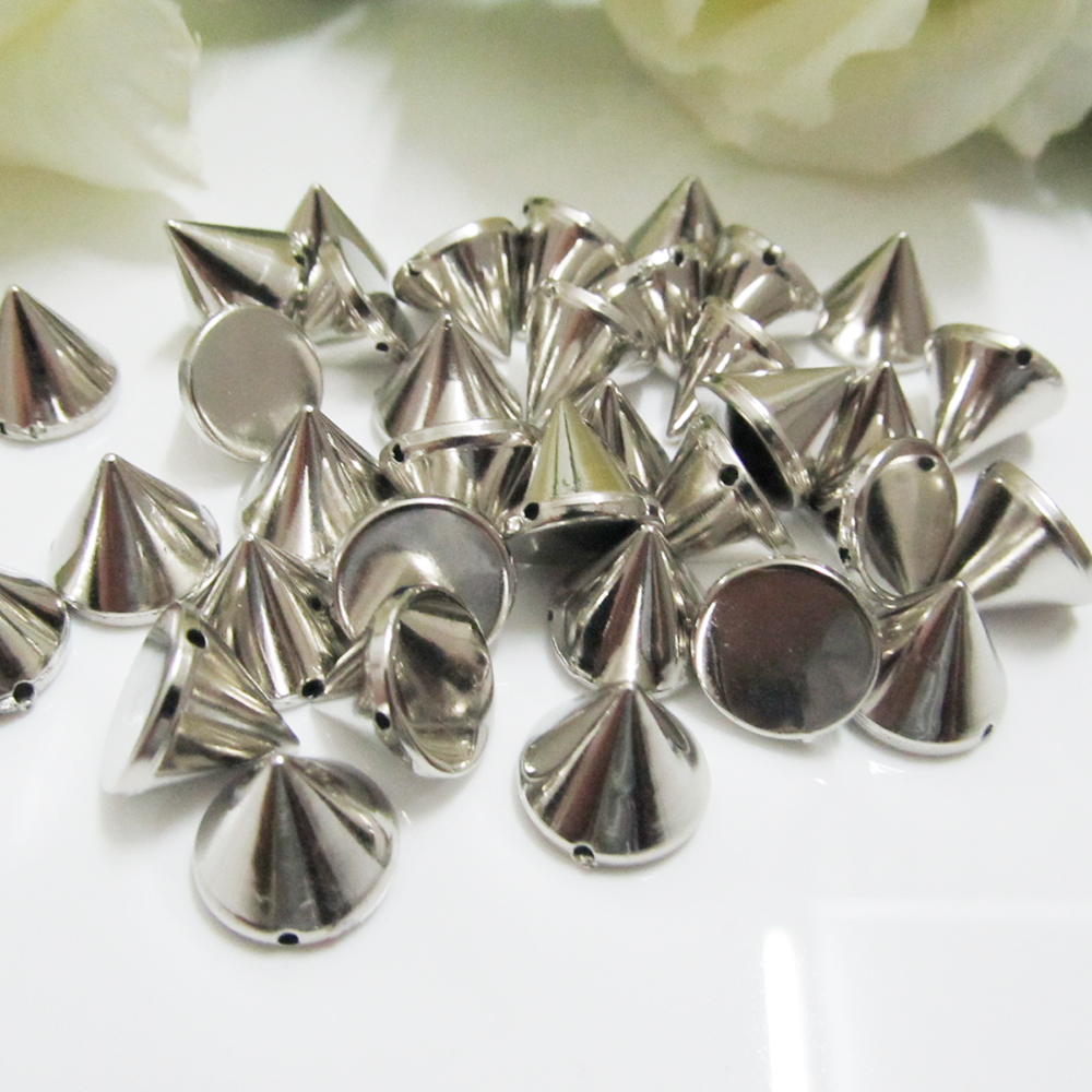 Smart 12mm Plastic Sew On Spikes,silver/gold/gunmetal,with Holes,500pcs/lot,fashion Punk Sew On Spikes,cone Tree Decorative Stud Spike Be Shrewd In Money Matters Ebay Motors