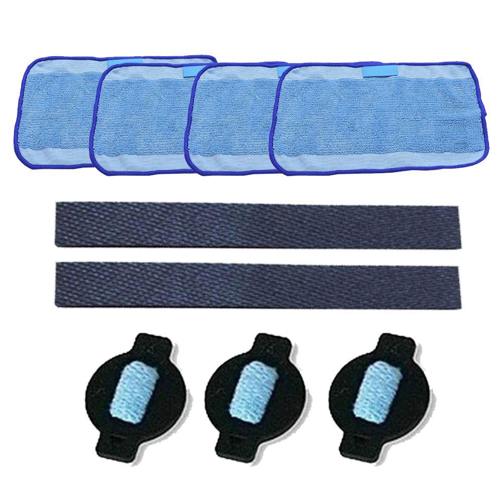 Лучшие продажи 9 шт./лот робот колесо шина Mop ткань водой Кепки Replacment для iRobot Braava 320 380 381 380 т мята 5200C 5200 4200 4205