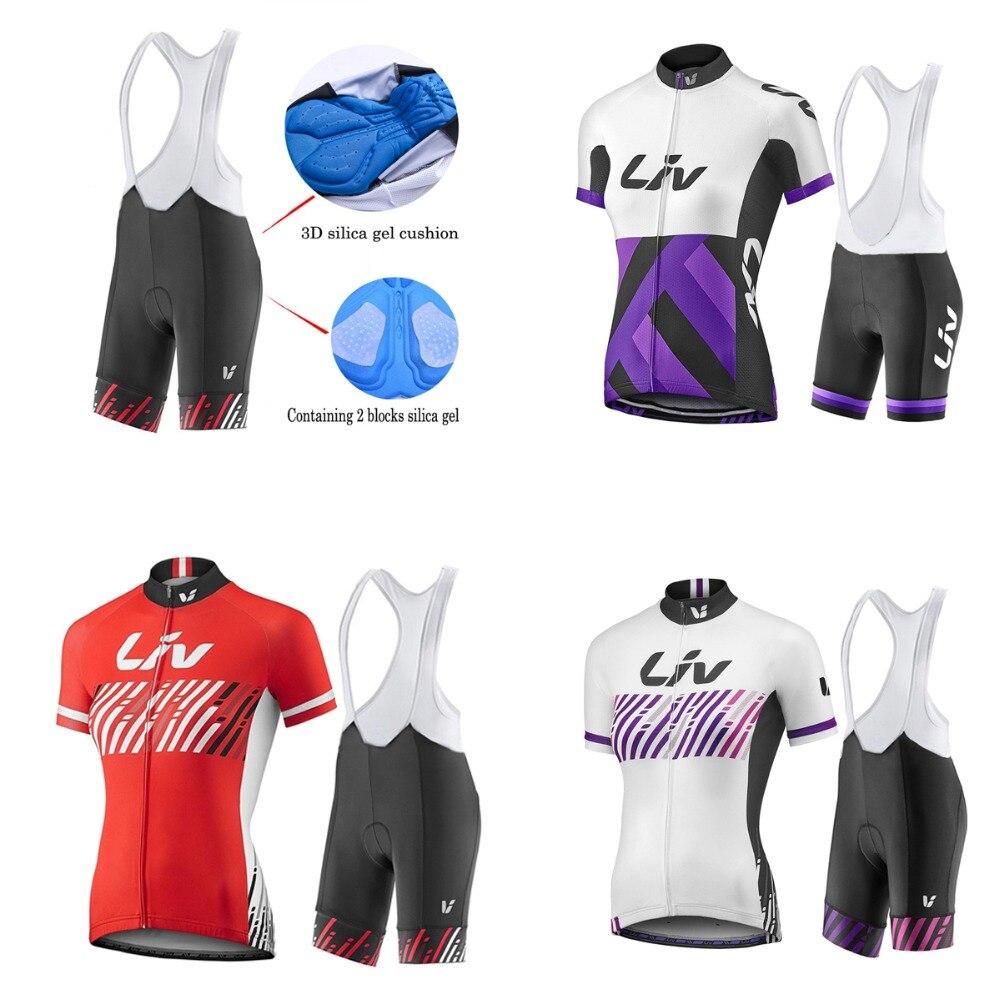Prix pour 2017 Cyclisme Jersey Pro équipe LIV À manches Courtes Roupa Ciclismo Rouge Vélo Sport respirant Vélo Cyclisme Vêtements Femme chemise
