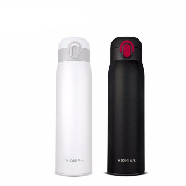 Original Xiaomi VIOMI Thermos better Cup Stainless Steel Cups Flask Water Bottle Cup 24 Hours Thermos 460ML Single Hand ON/Close 2l vacuum insulated stainless steel thermos flask