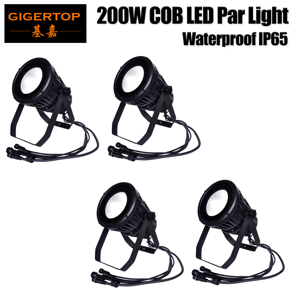 Freeshipping 4 Pack Waterproof 200W COB Led Par Light Tyanshine RGBWA UV 6in1 Outdoor Led Par 64 Cans For Bridge/Tunnel/Building