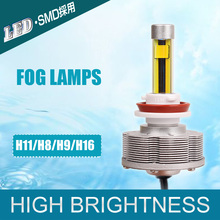 New Design H9 H8 LED Automotive Trucks Fog Lamps Light Source Bulbs Wholesale Brightest Golden 3000K Easy Install