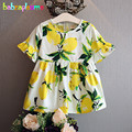 Summer Holiday Girl Children Beach Dress Fashion Flower Print Baby Girls Dresses Toddler Clothes Kids Clothing 0-7Year BC1440
