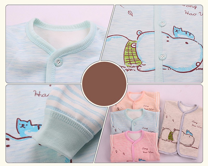 2PCS Winter Newborn Set Cartoon Hippo Girl Boys Clothes Long Sleeve Unisex Suit Baby Top+Pants Sets Candy Color Infant Underwear (5)