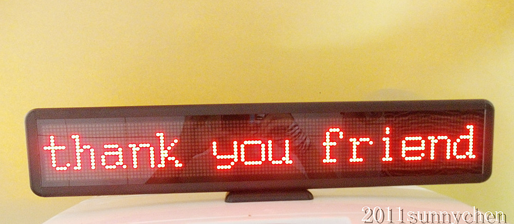 Red Programmable LED Scrolling Message Sign Display Indoor Board 21x4