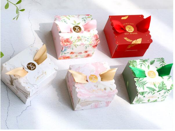 New Multicolor Wedding Candy Box Gift Bag Wedding Favors and Gifts Box Baby Shower Happy Birthday Paper Box Party Supplies(China)