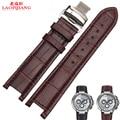 Laopijiang notch pulseira de couro dos homens borboleta bracelete pulseira de couro assista pulseira 22 X 13 MM 20 X 11 MM