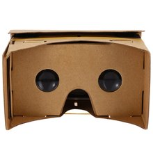 Hot!!! DIY Magnet Google Cardboard Virtual Reality VR Box Mobile Phone 3D Viewing Glasses For 5.0″ Screen Google VR 3D Glasses
