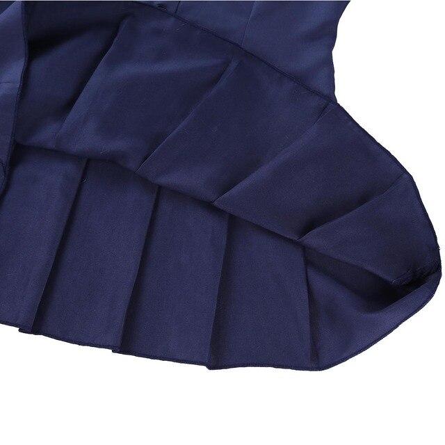 Sexy Cosplay Schoolgirl Costume Short Sleeve 5