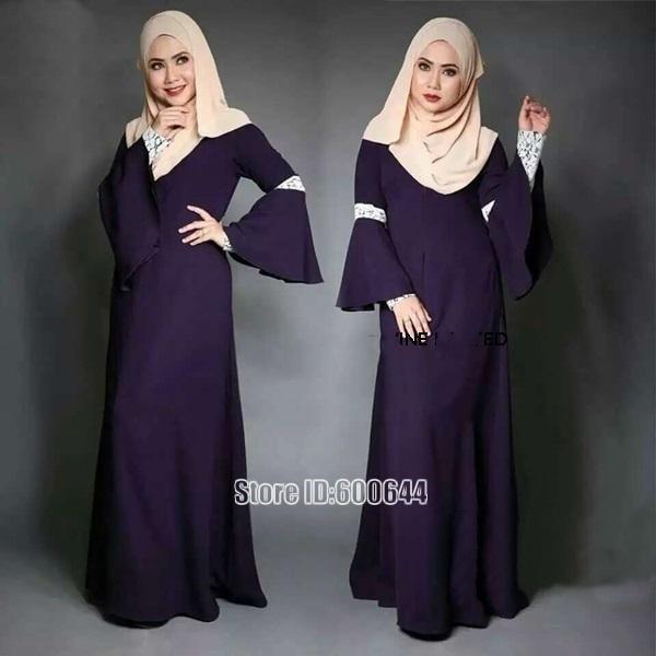 b03618a88210f Women Kaftan Abaya Dress Muslim Islam Malaysia Jilbab Long Sleeve Maxi  Dress clothes turkey muslim women dress robe-in Islamic Clothing from  Novelty ...