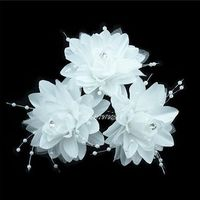 Free Shipping 12Pcs Wedding Bridal Pretty Flower Hair Pin Hair Accessory  12 Colors To Choose New SP-807