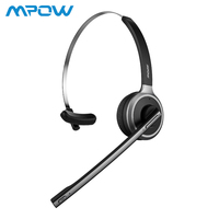 Mpow M5 Bluetooth Headset Wireless Headphone 13H Talking Time Earphone With Noise Cancelling Microphone For Call Center PC Phone