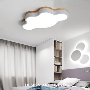 Image 3 - MDWELL מודרני Led תקרת אורות ענן צורת LED עבור שינה ילדי ילדי חדר Luminaire חמוד עץ תקרת מנורה קבועה