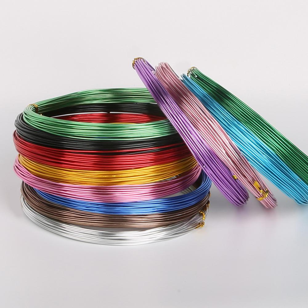 1.0 1.5 2.0 2.5mm Black White Color Plated Aluminium Wire For Jewelry Making Bracelet Craft Diy Accessories Wholesale Supply