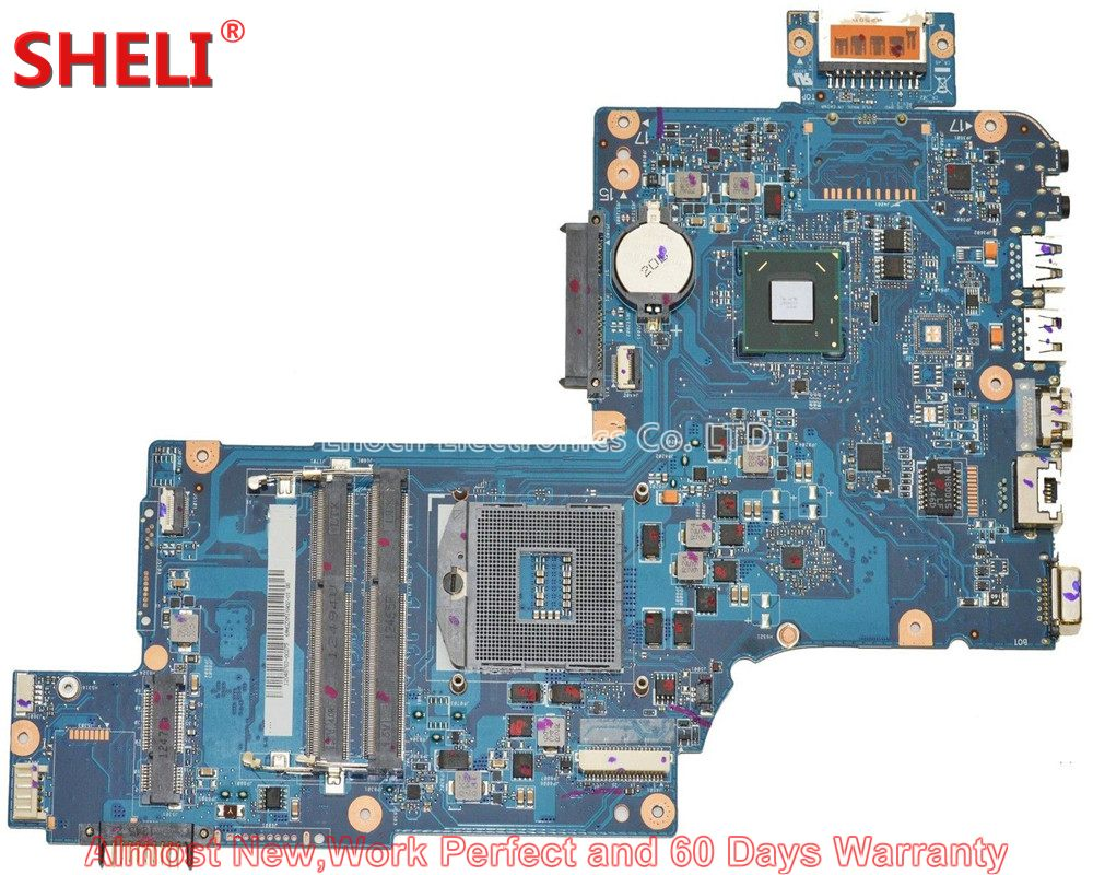 SHELI NEW H000046310 Laptop Motherboard For Toshiba Satellite C870 C875 L870 L875 SLJ8E HM76 HD 4000 PLF/PLR/CSF/CSR Main Board sheli new h000038420 laptop motherboard for toshiba satellite c850 c855 l850 l855 plf plr csf csr hm76 hd 7610m main board works