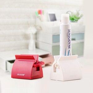 Image 4 - Banyo aksesuarları seti haddeleme diş macunu sıkacağı tüp diş macunu diş macunu sıkacağı dağıtıcı yaratıcı diş macunu tutucu