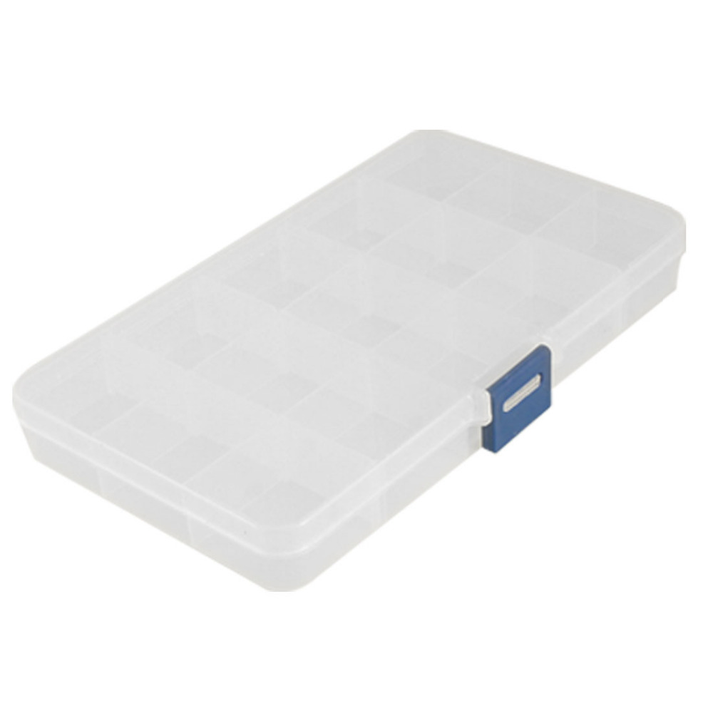 15 слот прозрачный пластиковый регулируемый пластиковый ящик для инструментов ремесло