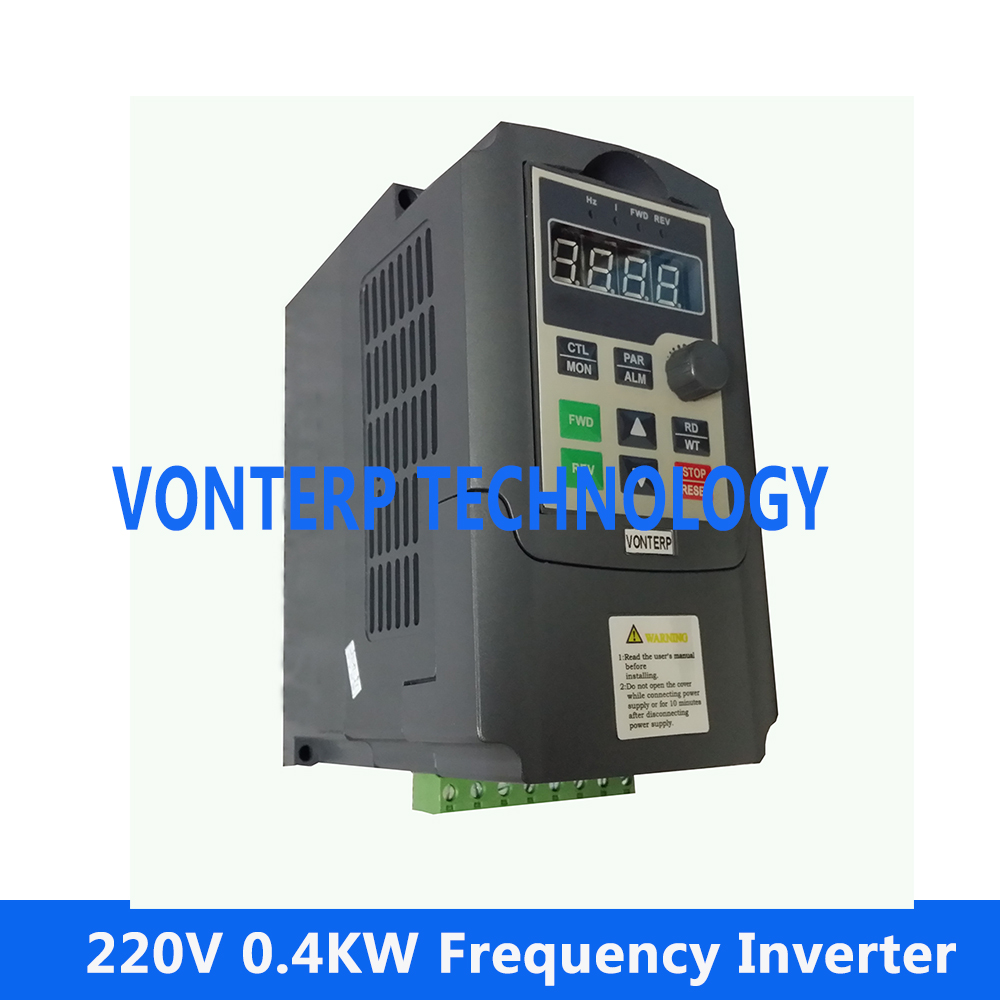 220v 0.4KW 2.5A single phase input and 220v 3 phase output small size frequency inverter,mini ac drive, frequency converter frequency inverter 5 5kw 220v single phase input 220v three phase output 5 5kw frequency converter