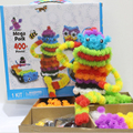400pcs/lot Assembling 3D Puzzle Kid Educational Toys DIY Ball Squeezed Variety Shape Creative Handmade Toys Puzzles For Children