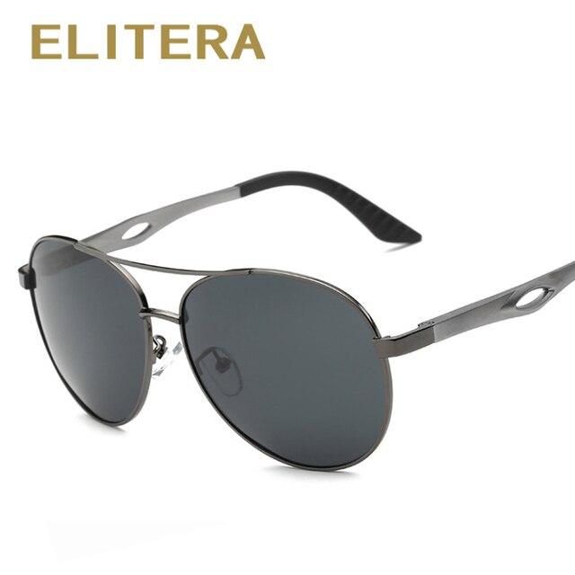 ELITERA New fashion High Quality Brand Designer Cool Driving Sports Aluminum Sunglasses Men Polarized UV Protect Sun Glasses