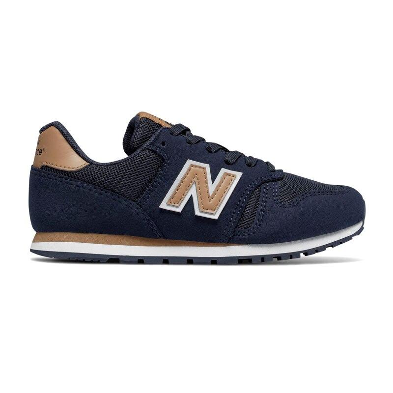 Nuovo 373-scarpe da Bambino beige navy da corsa Retrò sintetici Tessili Per La durata e il sudore di SPORT torna a scuola bambino