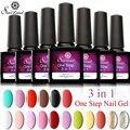 Saviland  One Step Gel Nail Polish UV Gel No Base Coat and Top Coat Soak Off Nail Art 3 In 1 Nail Gel Polish Pick 1