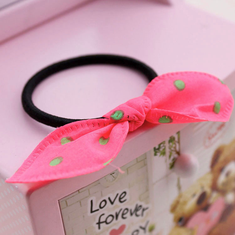 The rabbit ear fabric hair bands Elastic rope Han edition hair accessories, free home delivery han edition hair pearl four petals small clip hairpin edge clip a word free home delivery