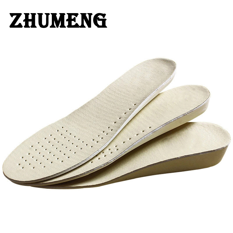 ZHUMENG Men and Women Scholls Insoles Sport Height Increase Insole Shock Absorbing Insoles EVA Silicone Shoe Insole Heel Spur 2017 promotion gel insoles shock