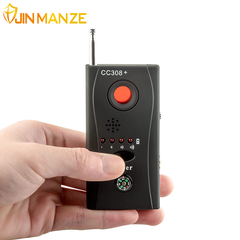 CC308 Wireless FNR Full-frequency Detector Radio Wave Signal Detect GSM Device Finder Laser Lens RF Signal Detector 1 pcs wireless signal rf detector tracer hidden camera finder ghost sensor 100 2400 mhz gsm alarm device radio frequency check