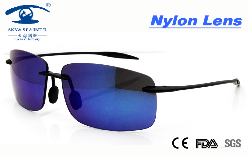 Rimless Glasses Nylon : New Cool Sunglasses Women UV400 New Material Nylon Lens ...