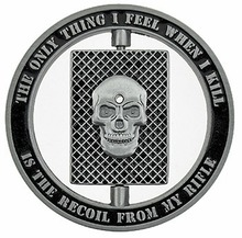 Sniper One Shot One Kill Skull Spinner Military Challenge Coin, Sample! DHL free shipping цена и фото