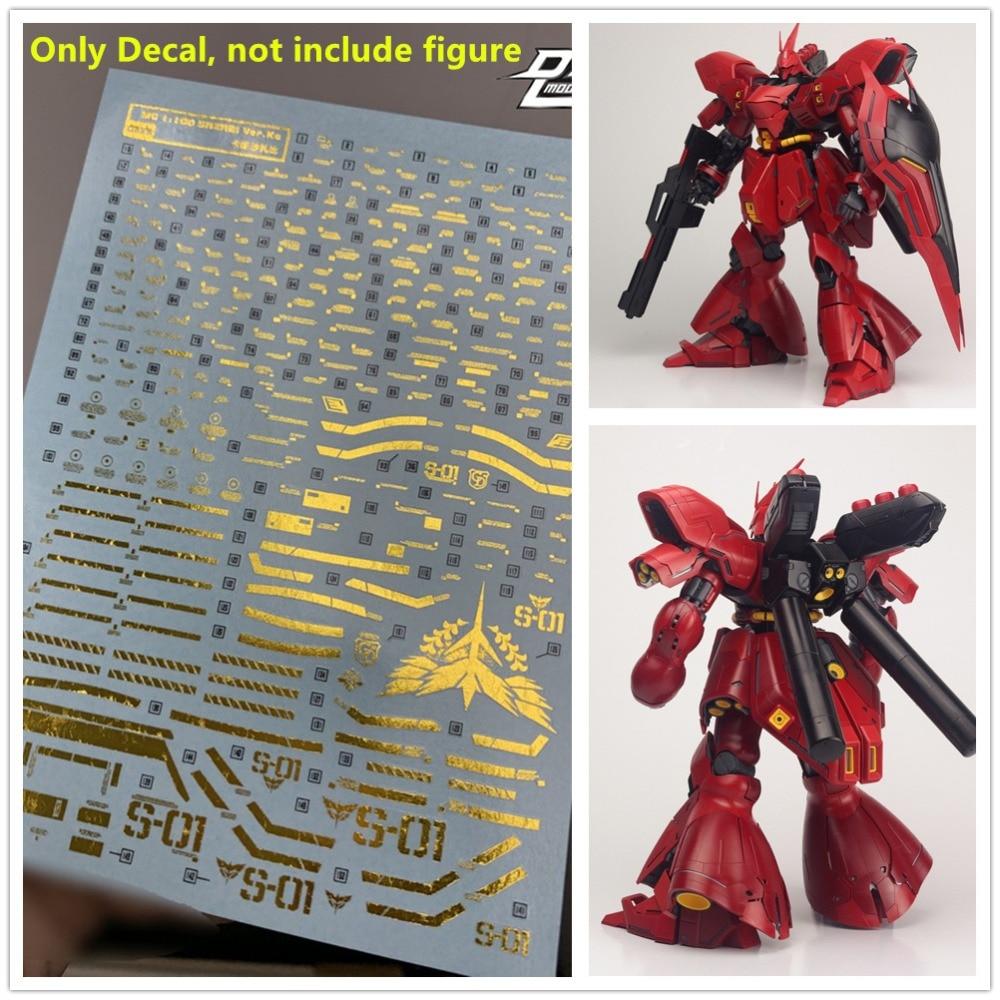for RG 1//144 MSN-04 Sazabi Gundam D.L Model Water Slide Stamp Gold Print Decal