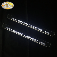 2PCS Acrylic Moving LED Welcome Pedal Car Scuff Plate Pedal Door Sill Pathway Light For Kia Grand Carvinal 2012 2013 2014