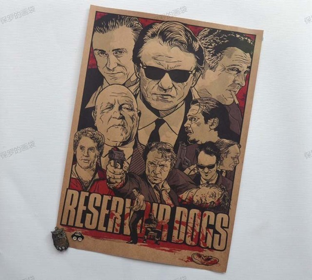 Retro Vintage Reservoir Dogs Paper Wall Posters Decoration