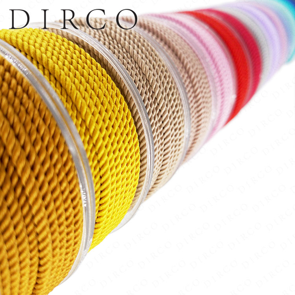 About The Fit TA 3.0mm 4M Milan Silk Cords String Crafts Thread Jewelry Accessories Strap Ropes For Bracelet Making Woven Lacing