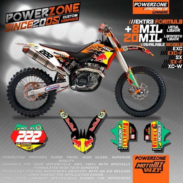 Custom Team Graphics & Backgrounds Decals 3M Oneal Customized Sticker Kits For KTM SX SXF XCW EXC F EXC 2004-2017 Free Shipping