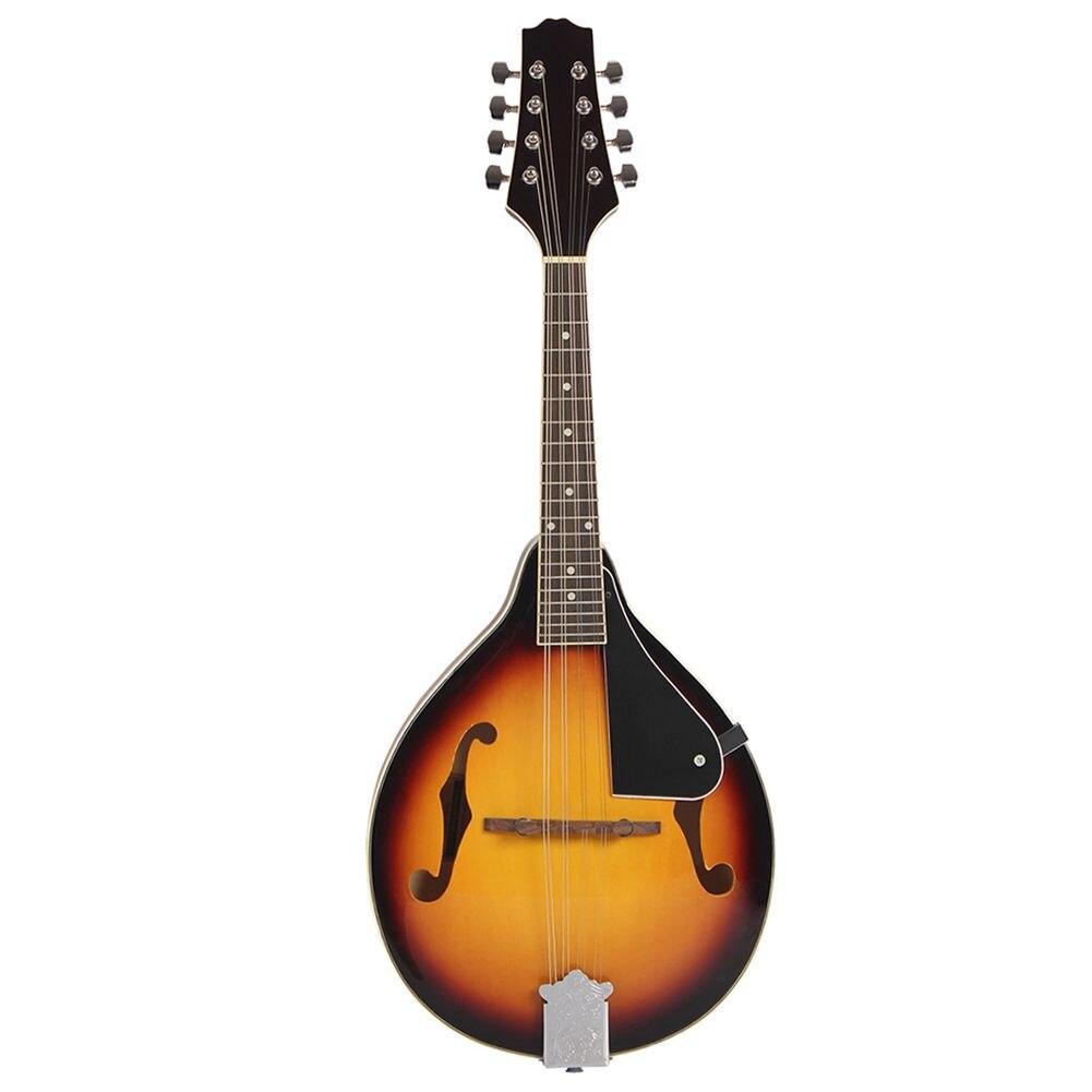 XFDZ IRIN Sunburst 8 String Basswood Mandolin Musical Instrument with Rosewood Steel String Mandolin Stringed Instrument