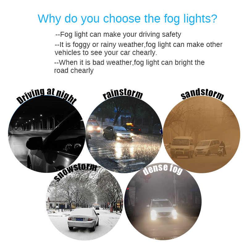 Buildreamen2 Car LED Bulb 4000LM Fog Light DRL Daytime Running Lamp For Opel Vectra C 2002 2003 2004 2005 2005 2006 2007 2008