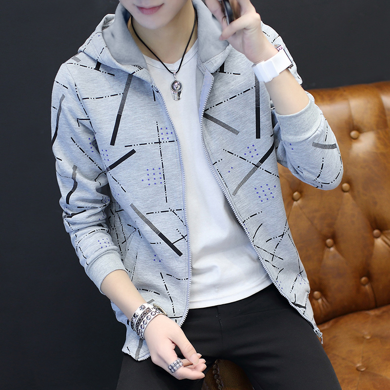 Jackets Men Korean Style Casual Males Coat Students Slim Fit Mens Printed Long Sleeve High Quality Comfortable Ulzzang Daily 25