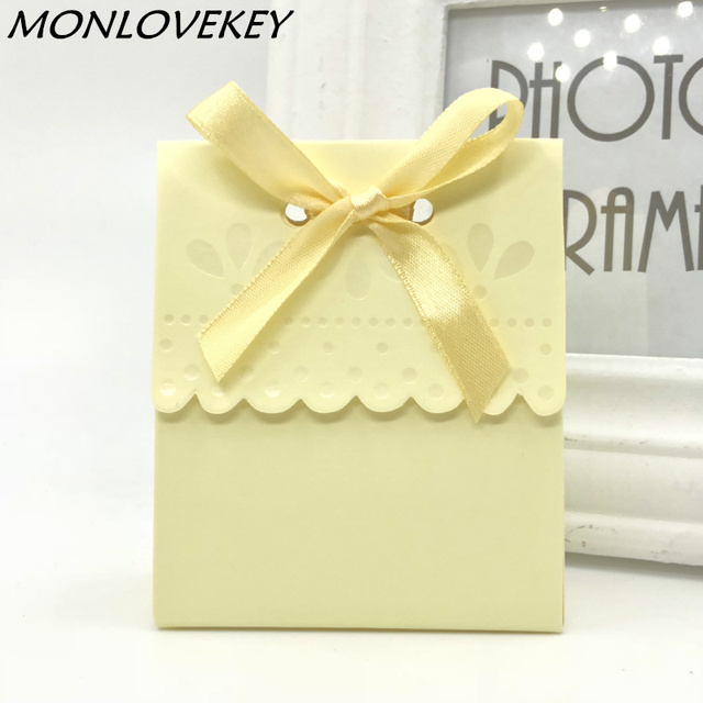 Wedding Favors Wholesale.Us 13 25 5 Off Wholesale 50pcs Lot Beige Cream Flavor Wedding Candy Box Wedding Favors Boxes Wedding Partygift Boxes For Wedding Decoration In Gift