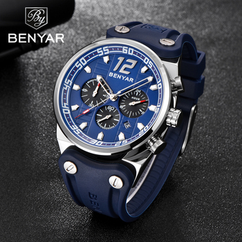 2019 New BENYAR Men's Watches Sports / Military/Quartz/Watch Man Clock Top Brand Luxury Male Watch Chronograph Relogio Masculino junqiao military watches men sandalwood quartz wristwatch chronograph clock male fashion sports watch hardlex relogio masculino