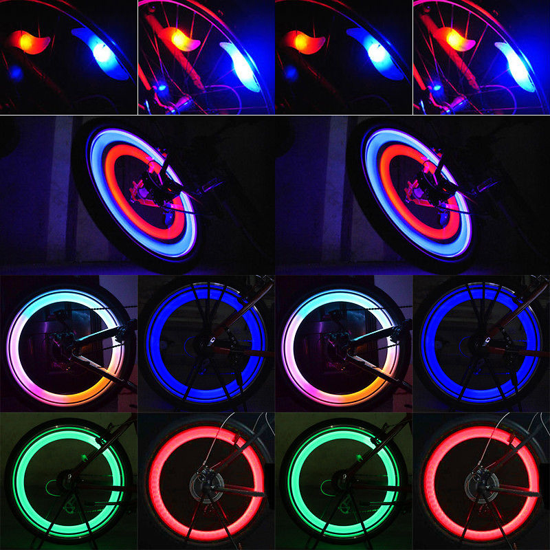cycle zone Multi-Color Bike Bicycle Cycling Wheel Tire Tyre LED Flash Lamp Bicycle Spoke Safety Warning Light