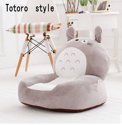 2016 de alta qualidade feijão do bebê Bag crianças Chair & Sofa Minions crianças Totoro sofá assento de cadeira de pelúcia dos desenhos animados brinquedos de algodão para crianças