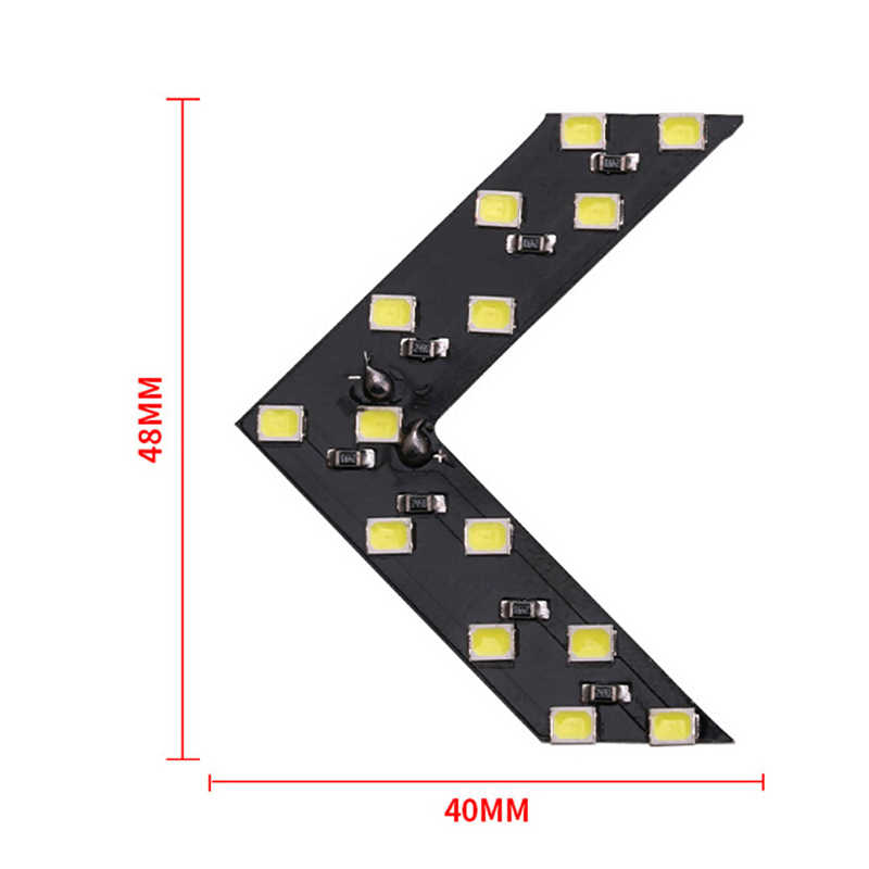1pc 14 SMD LED panel de flechas para coche Indicador de espejo retrovisor de señal lámpara coche LED luz para espejo retrovisor