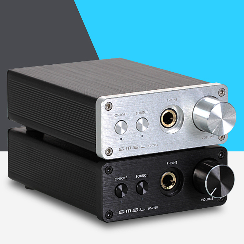 SMSL SD793-II MINI HIFI Amplifier PCM1793 DIR9001 DAC Digital Audio Decoder Amplifier Optical Coaxial Input smsl a8 hifi audio digital power amplifier dac headphone amp decoder xmos solution icepower 125wx2 module ak4490 supports pcm